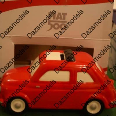 Fiat 500 Ceramic piggy bank Moneybox official Red Large