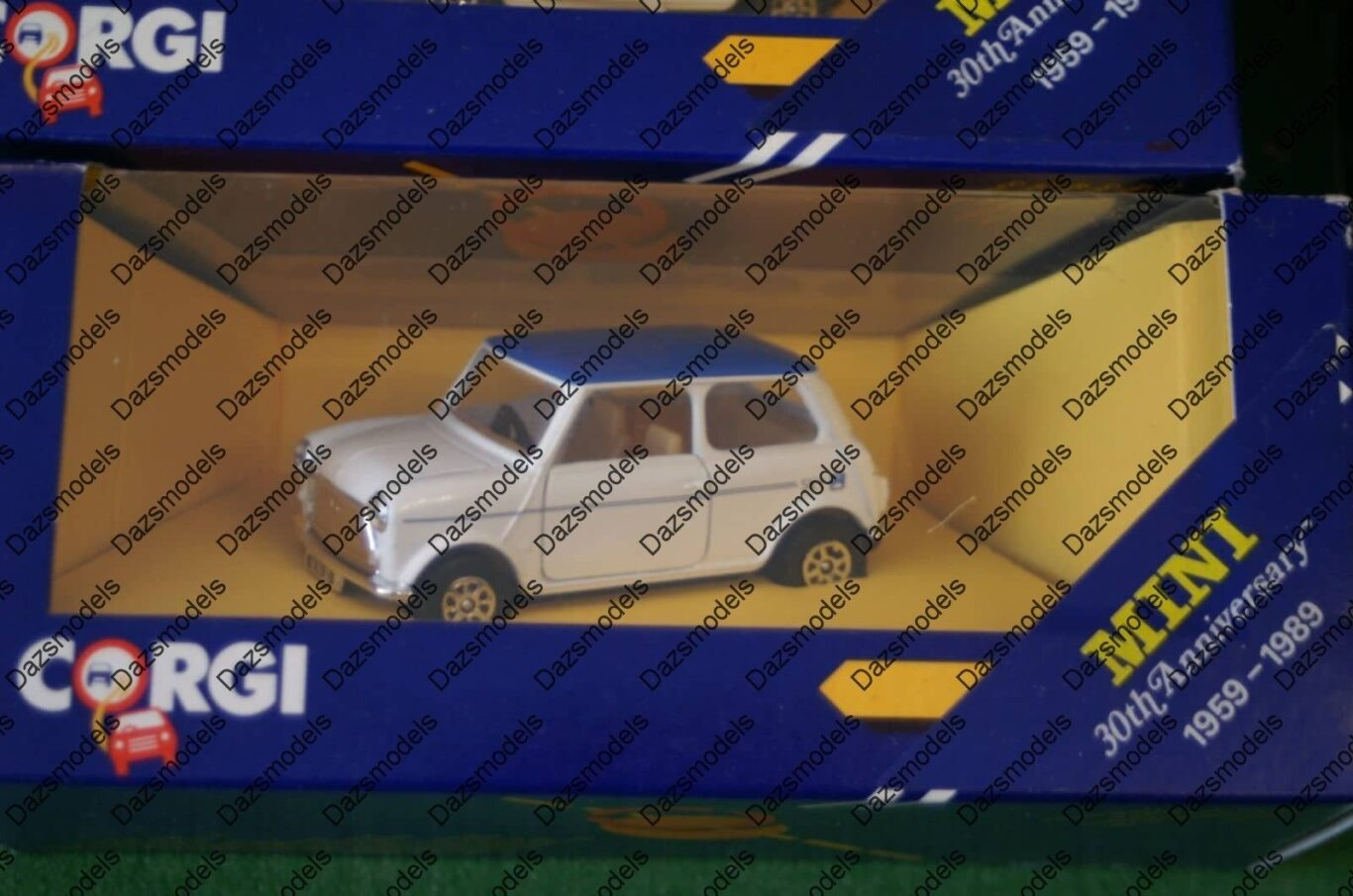 Corgi Mini C330/3 30th Anniversary Sky @ 1:36 Scale, White Blue