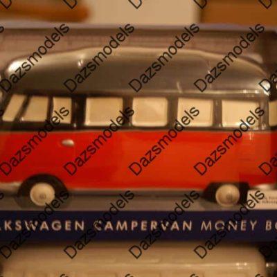 Volkswagen Ceramic Camper Van Moneybox official Black / Red