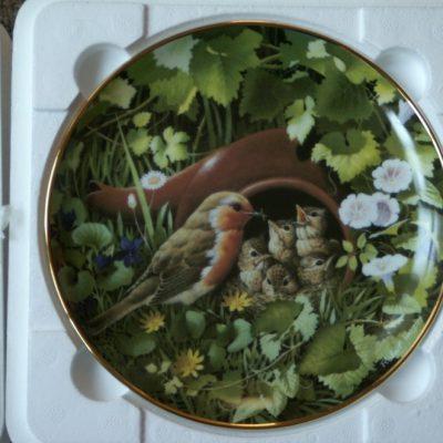 Danbury Mint The Robin Mint Afternoon Tea Hidden Treasures Plate