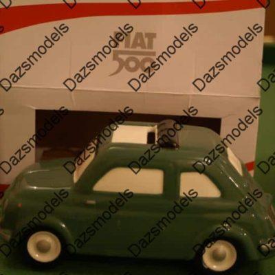 Fiat 500 Ceramic piggy bank Moneybox official Green Small