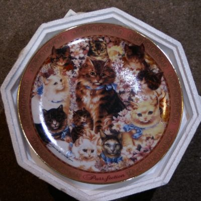 Franklin Mint Purr-Fection collection of cats Plate ltd