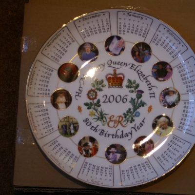 HRH Queen Elizabeth 2 80th Birthday Plate ltd 27cm