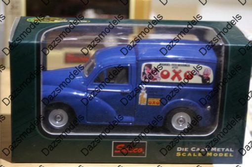 Saico Morris Minor Van OXO Livery Blue 1:26