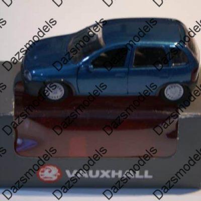 Gama Vauxhall Corsa 5 Door Blue in grey Vauxhall box in 1:43