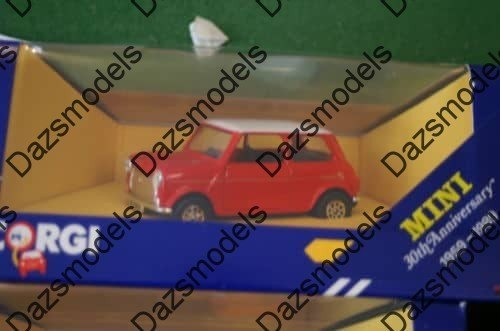 Corgi Mini C330/4 30th Anniversary Flame @ 1:36 Scale, Red white
