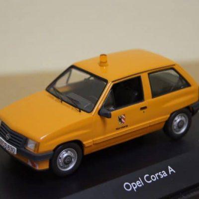 Schuco Opel / Vauxhall Corsa A Orange Ltd 1000 in 1:43 scale