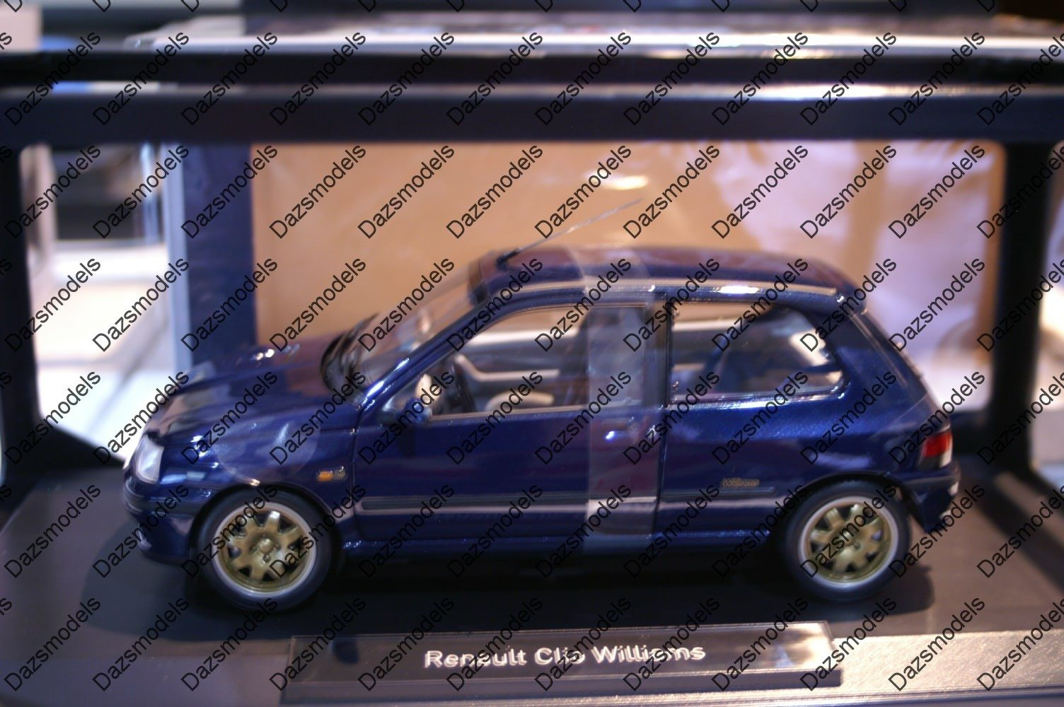 norev renault clio williams phase1 blue 1 18 scale 185230 dazsmodels stafford. Black Bedroom Furniture Sets. Home Design Ideas
