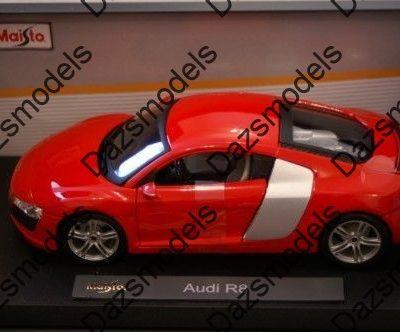 Maisto-Audi-R8-RedSilver-118-scale-182446349302
